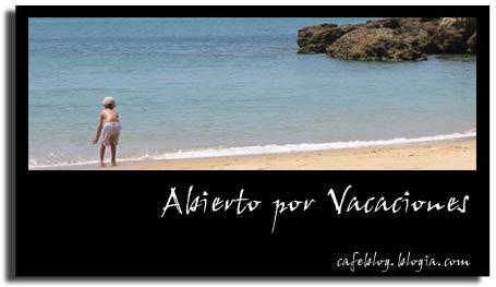 Abierto por vacaciones